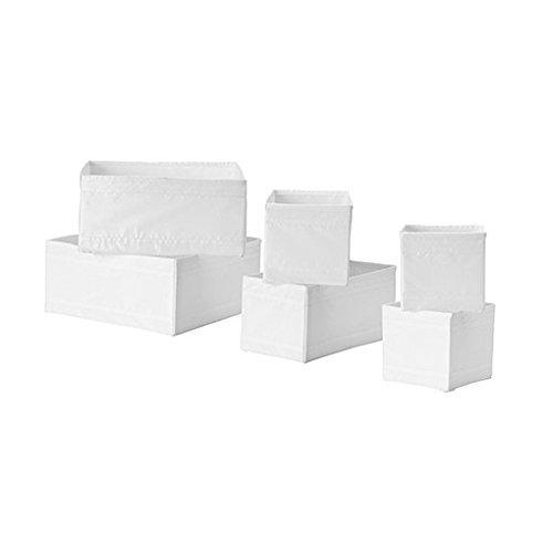 Ikea Drawer Storage Organizer Box Bin Tote White 6 Piece