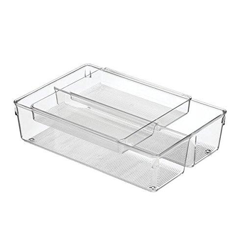 """InterDesign Linus Kitchen Drawer 3/"""" x 3/"""" x 2/"""" Clear"""