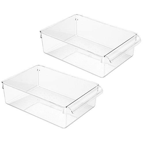 InterDesign Linus 6 by 11-12 by 3-12-Inch Pullz 6 Kitchen Pantry Storage Organizer 2  Pack Clear