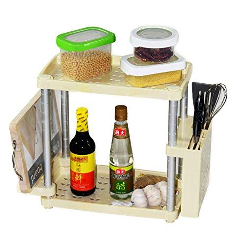 Bestwoo Plastic Bathroom Organizer Rack Holder Kitchen Sundries Storage Shelf WY-07