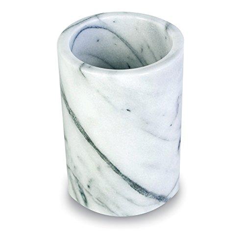 Elegant Marble Utensil Holder Crock - Kitchen Storage OrganizerWine Chiller Cooler White