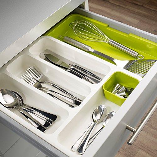UMEXUS Plastic Expandable Cutlery Tray Utensil Drawer Organizer Flatware Drawer Dividers Kitchen Storage Organizer