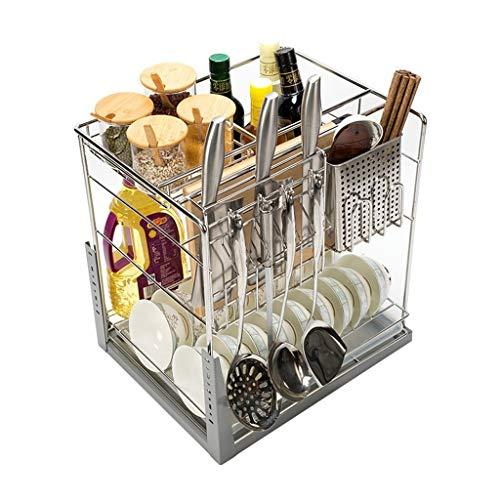 Kitchen Drawer Storage Cabinet Organiser Stainless Steel Drawer Type Cabinet Seasoning Rack Shelf Size  350 cabinet