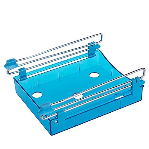 VANKER 1Pc Blue Home Kitchen Refrigerator Fresh Spacer Layer Multi-Purpose Food Storage Rack Box Equipment