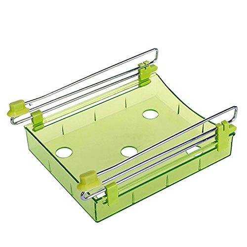 VANKER 1Pc Green Home Kitchen Refrigerator Fresh Spacer Layer Multi-Purpose Food Storage Rack Box Equipment