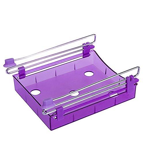 VANKER 1Pc Purple Home Kitchen Refrigerator Fresh Spacer Layer Multi-Purpose Food Storage Rack Box Equipment