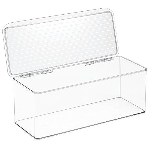 InterDesign 67530 55 X 133 X 5 Clear Kitchen Binz Stackable Storage Box With Lid