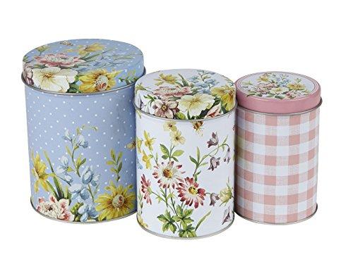 Creative Tops Katie Alice English Garden Shabby Chic Nested Kitchen Storage Tins Set of 3