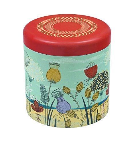 ST KILDA Sand Dunes FLOWER DESIGN Biscuit Tin  Kitchen Storage Tin  Biscuit Barrel - 17cm by St Kilda