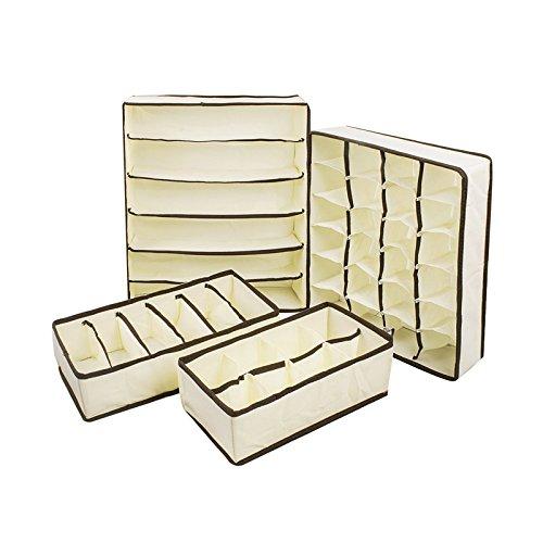 Mwfus Bra Underwear Foldable Storage Closet Organizer Drawer Divider
