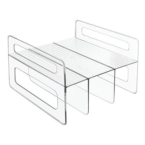 InterDesign Kitchen Cabinet Storage Organizer for Aluminum Foil Sandwich Bags Plastic Wrap - Clear