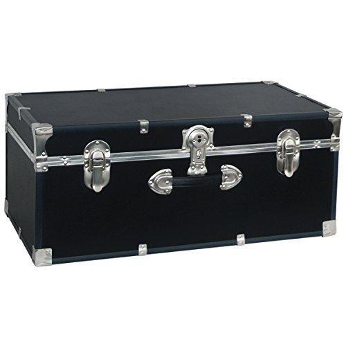 Seward Trunk College Dorm and Camp Storage Footlocker Black 30-Inch SWD5120-10