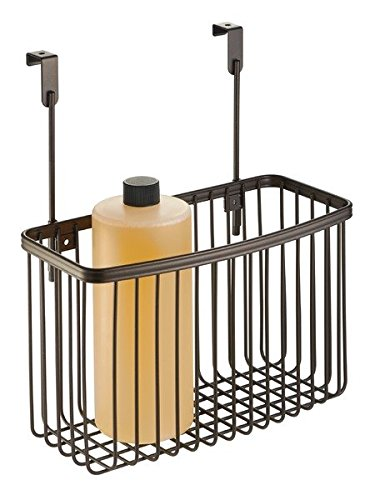 mDesign Over the Cabinet Laundry Room Organizer Storage Basket - Bronze