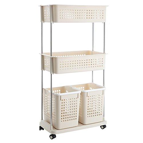 Laundry basket dirty clothes storage basket plastic laundry basketClothing storage box bathroom rackStorage shelf -B