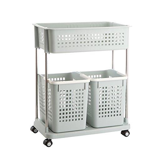 Laundry basket dirty clothes storage basket plastic laundry basketClothing storage box bathroom rackStorage shelf -E