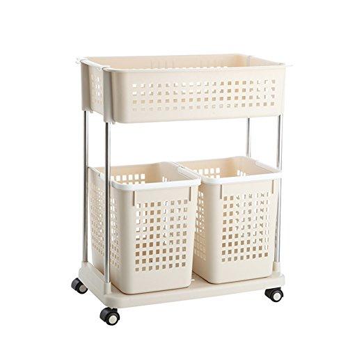 Laundry basket dirty clothes storage basket plastic laundry basketClothing storage box bathroom rackStorage shelf -F