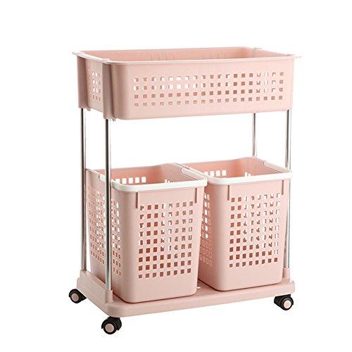 Laundry basket dirty clothes storage basket plastic laundry basketClothing storage box bathroom rackStorage shelf -G
