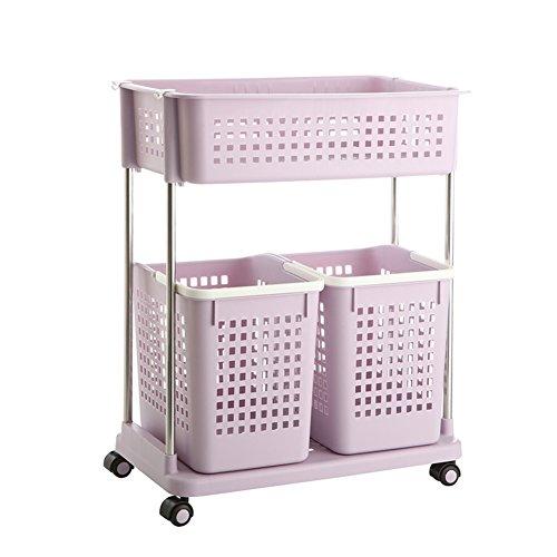 Laundry basket dirty clothes storage basket plastic laundry basketClothing storage box bathroom rackStorage shelf -H