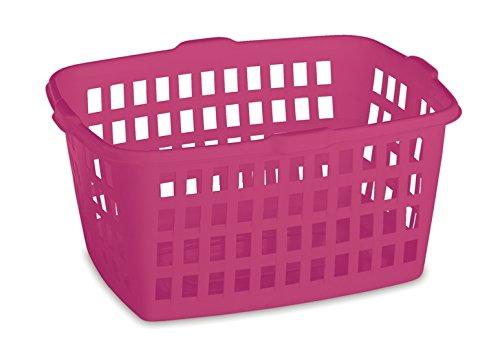 Homz Plastic Laundry Basket Bright Rose 2-Pack