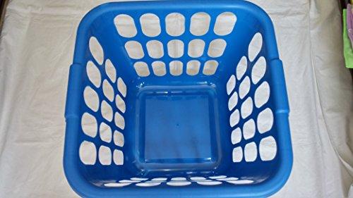 Square Plastic Laundry Basket Assorted Colors