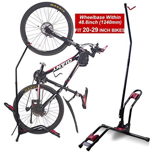 Dinsam Top Vertical Bike Stand for Floor Indoor Bike Mount Rack - Fits Nearly All Bikes Frees 4 Feet of Floor Space