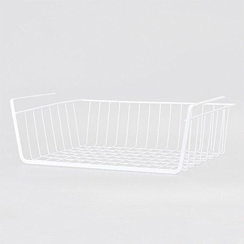 Premier Housewares Under Shelf Storage Basket- 40 cm - White