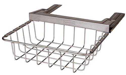 Rubbermaid Slide-Out Under-Shelf Storage Basket Titanium FG1H3200TITNM