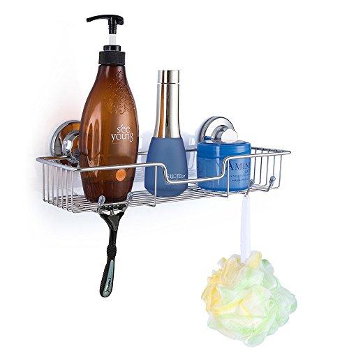 SANNO Bathroom Shower Caddy Bath Shelf Storage Organizer No Damage Suction CupRustproof Wire basket for Kitchen Bathroom Accessories - Rustproof Stainless Steel