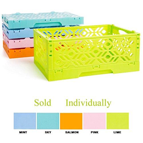 Stackable Platic Organizer shelf Storage Basket for home Kitchen Bathroom essentials Storage Box LIME