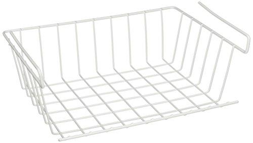 YBM HOME Under Shelf Storage Basket 12-inch White 1184