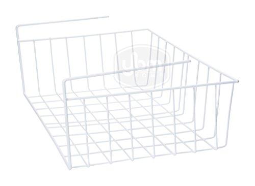 Ybmhome Under Shelf Storage Organizer Wire Basket Kitchen Pantry Wrap Rack White 2221 1 Small