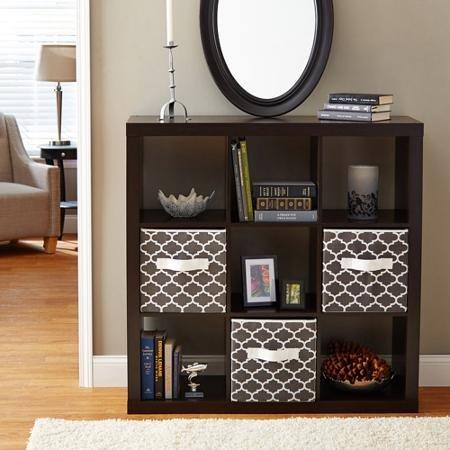 9-Cube Storage Square Bookcase Espresso
