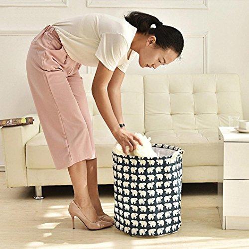 Leegor Waterproof Canvas storage barrel Sheets Laundry Clothes Laundry Basket Storage Basket folded Storage Box A