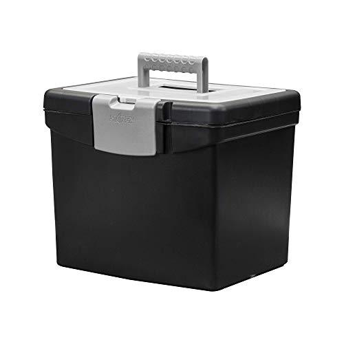 Storex File Storage Box Translucent Storage Lid Black