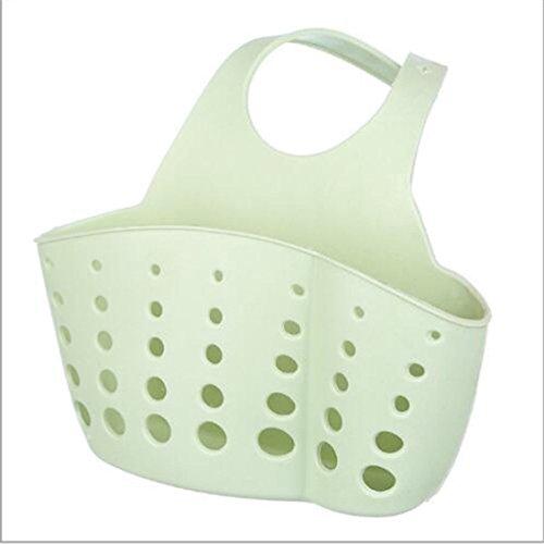 Plastic Kitchen Sink Drain Rubber Home Storage Shelf Bath Hanging Basket Holder