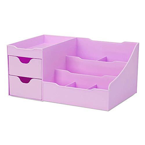 426JingYu Dressing Table Makeup Storage Drawer RackCosmetics Case Makeup Perfume Jewelry Holder - Office Home Desktop Storage Container Women Gift Purple