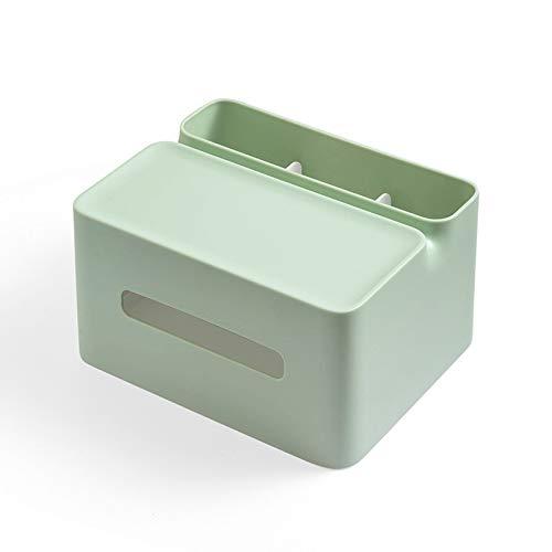 Yujiayi Desk Storage Box Plastic Desktop Tissue Box Multi-Function Desk Organiser Remote Control Holder Desktop Storage Container for Home Office