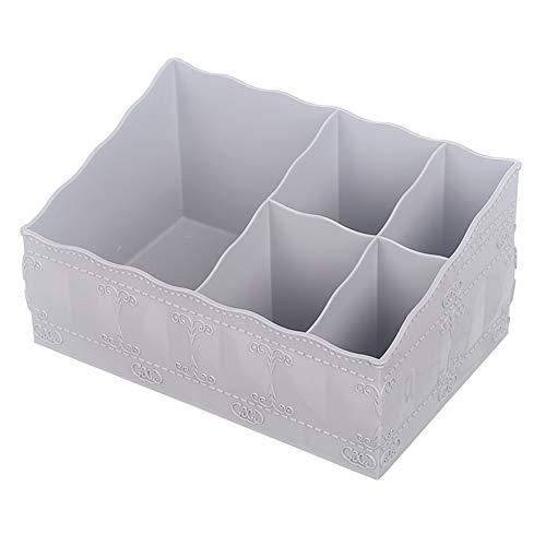 litymitzromq Cosmetic Storage Organizer 5-Slot Desktop Storage Container Makeup Organizer Home Office Cosmetics Holde rfor Storage of Accessories on Vanity Countertop or Cabinet Grey