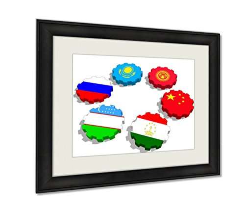 Ashley Framed Prints Shanghai Cooperation Organization Wall Art Decor Giclee Photo Print In Black Wood Frame Soft White Matte Ready to hang 16x20 Art