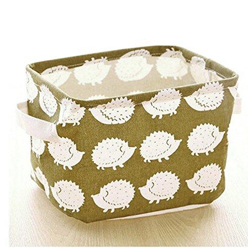 Amrka Linen Desk Storage Box Holder Jewelry Stationery Cosmetic Organizer Case 4 Hedgehog