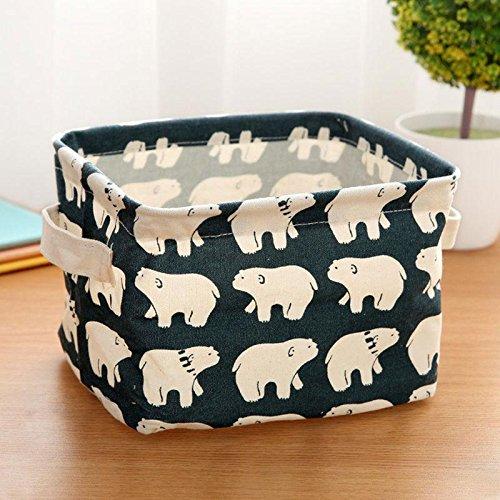 ZHUOTOP 1PC High Function Attractive Waterproof Basket Linen Desk Storage Box Polar Bear