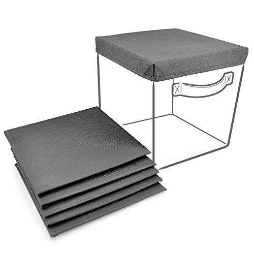 SorbusFoldable Storage Cube Basket Bin Covers 6 Pack Grey