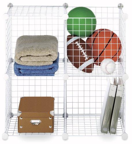 Whitmor  Storage Cubes S4 White Wire