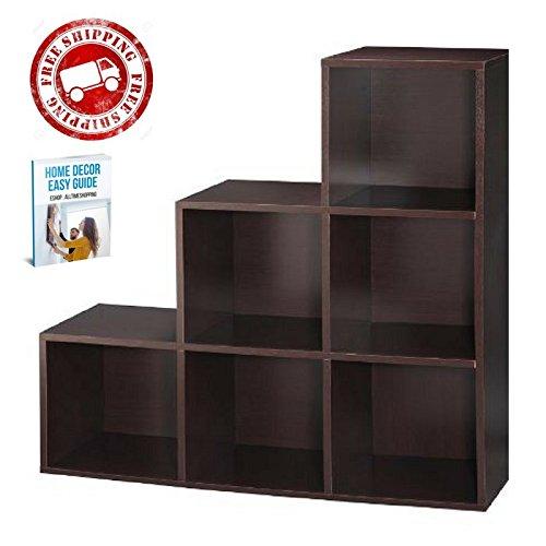 Organizer Cubes Bookshelf Furniture Espresso Living Room Office Bedroom Wooden Modular Boxes eBook by AllTim3Shopping