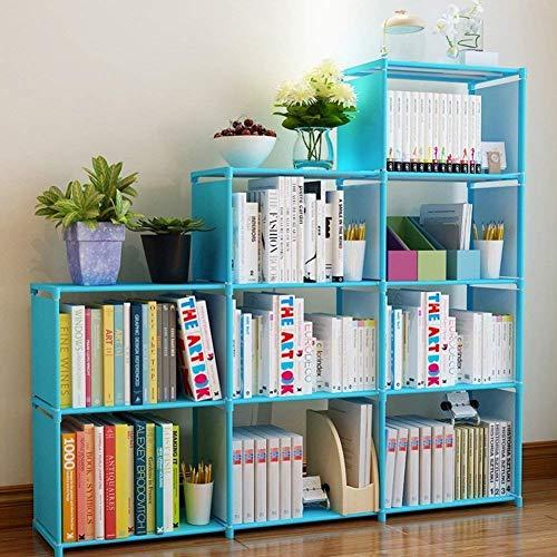 Jukert DIY Adjustable Bookcase 9 Cube Storage Book case Kids Bookshelf Bookshelves Toy Organization Organizer Shelf Home Furniture Cabinet