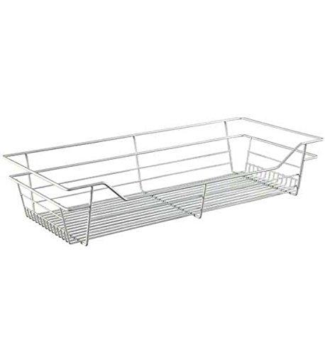 Closet Wire Drawer Basket 29 x 6 x 14 Nickel