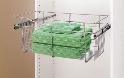 Rev-A-Shelf Pull-Out Closet Basket 30w X 12d X 18h Chrome