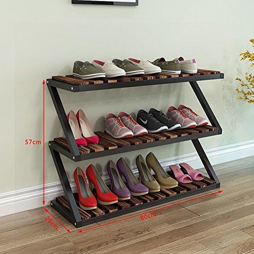 Softgo Shoe Racks Shoe Rack Wooden Shoe Rack Cabinet Counter with Drawer 3 Layer White Storage Shelf Balcony Entrance Corner Entrance Color  Black Brown
