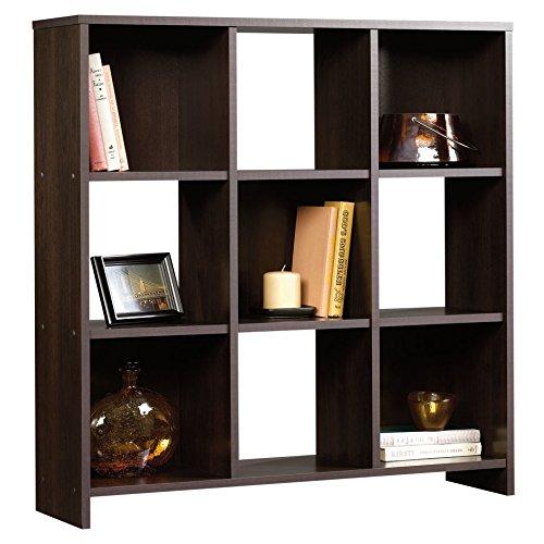 3 Shelving Tiers Gerardo Cube Unit Bookcase in Cinnamon Cherry Finish 3588 H x 3525 W x 95 D