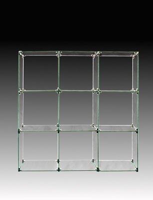 9 Cube Glass Display Unit - 12 x 12 Glass